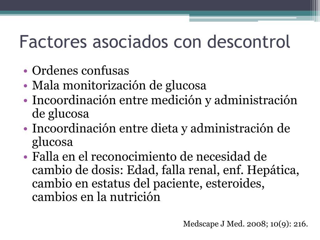 Factores asociados con descontrol