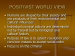 positivist world view14