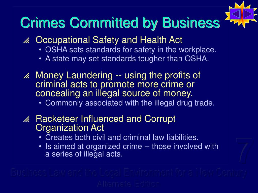 Crimes Committed by Business