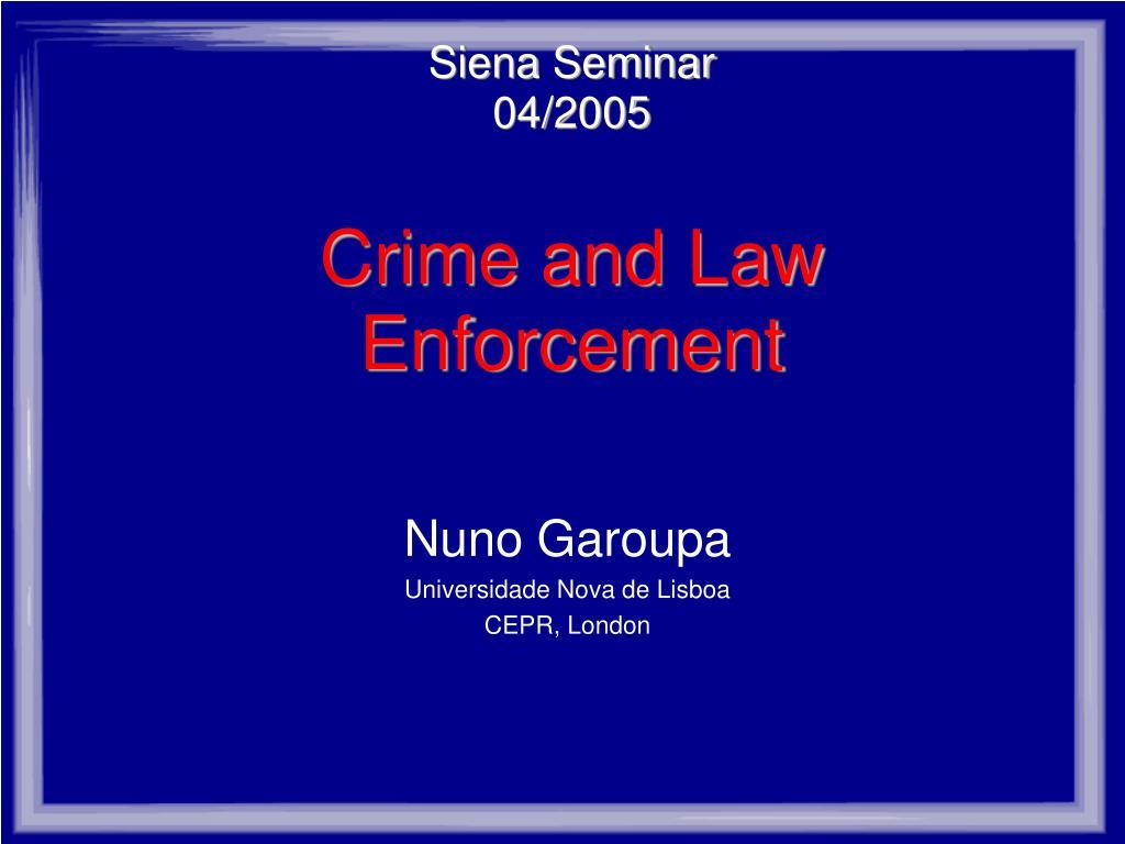 Siena Seminar