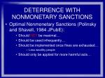 deterrence with nonmonetary sanctions29