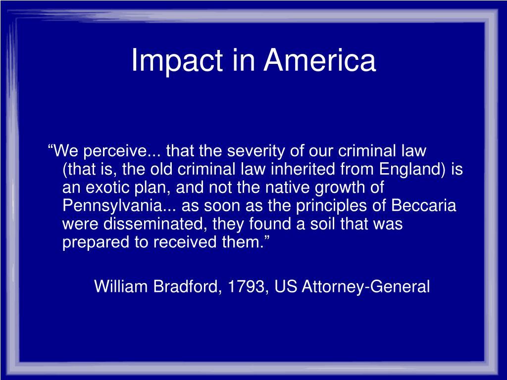 Impact in America