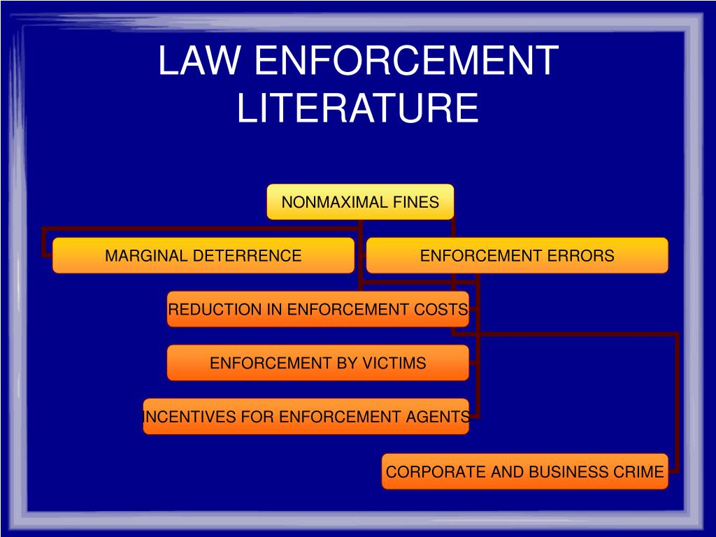 LAW ENFORCEMENT LITERATURE
