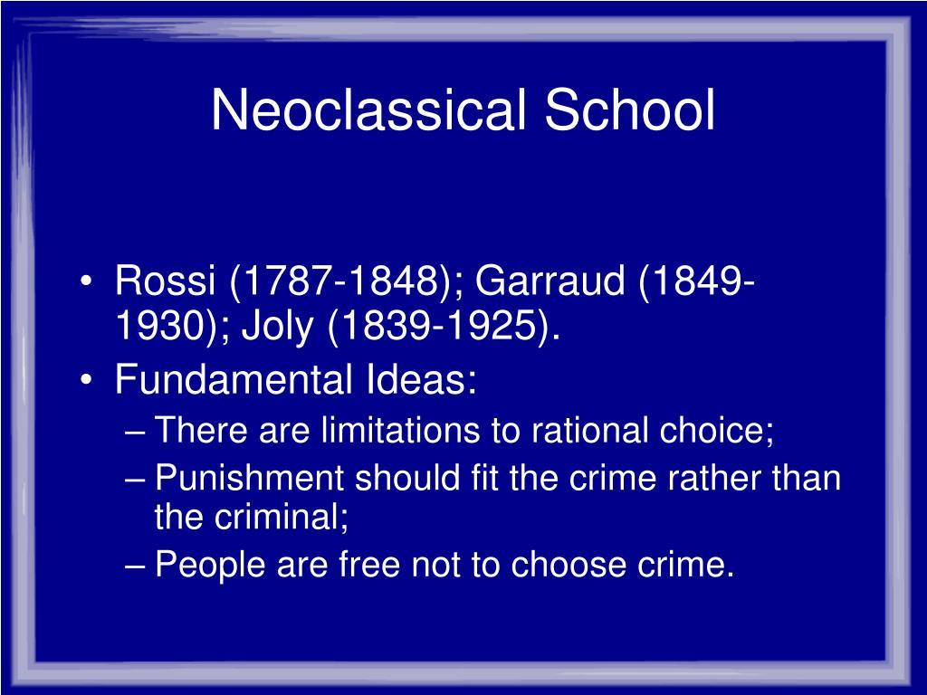 Neoclassical School