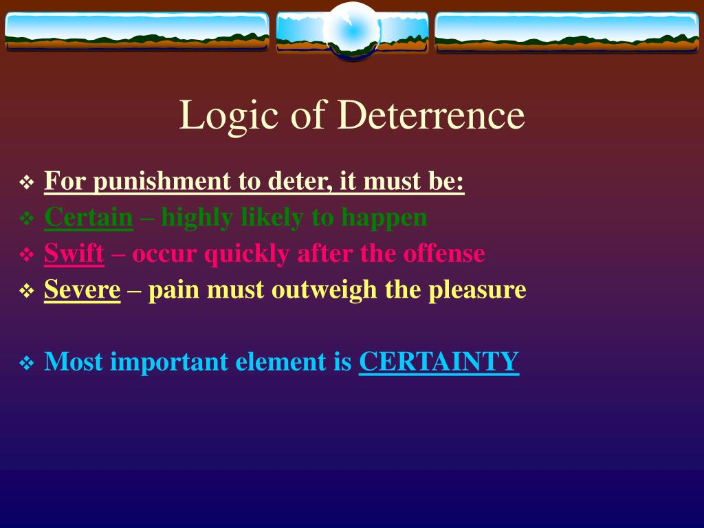Logic of Deterrence
