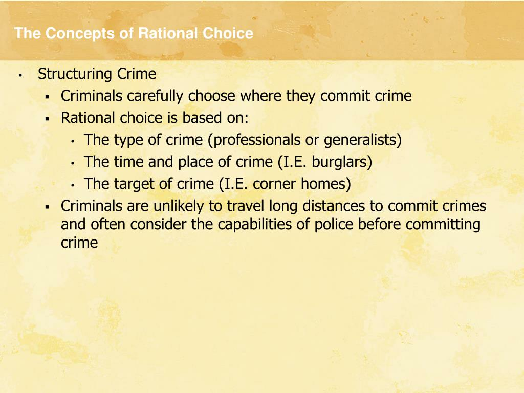 The Concepts of Rational Choice