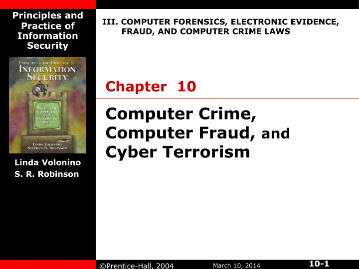 Computer crime computer fraud and cyber terrorism
