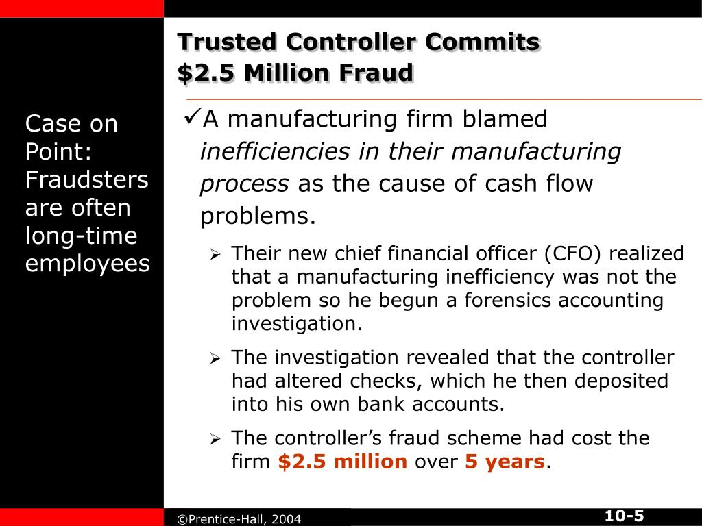 Trusted Controller Commits $2.5 Million Fraud