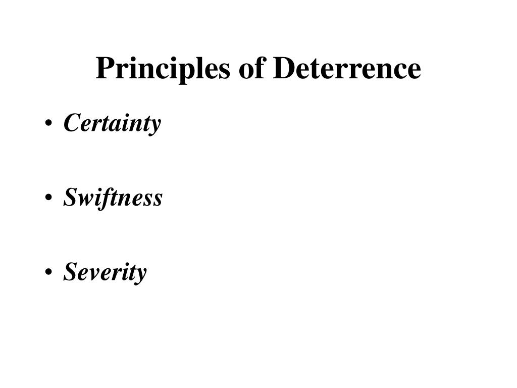 Principles of Deterrence