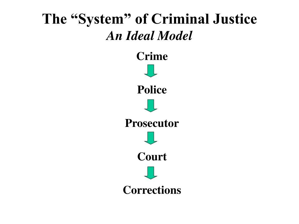 "The ""System"" of Criminal Justice"