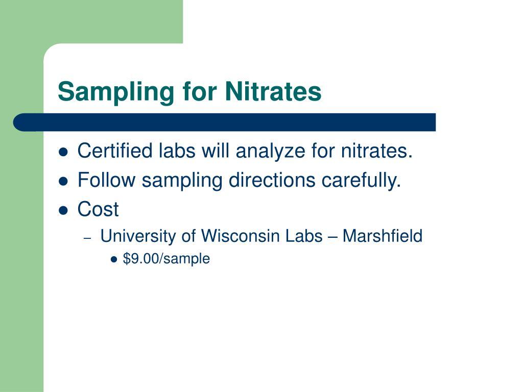 Sampling for Nitrates