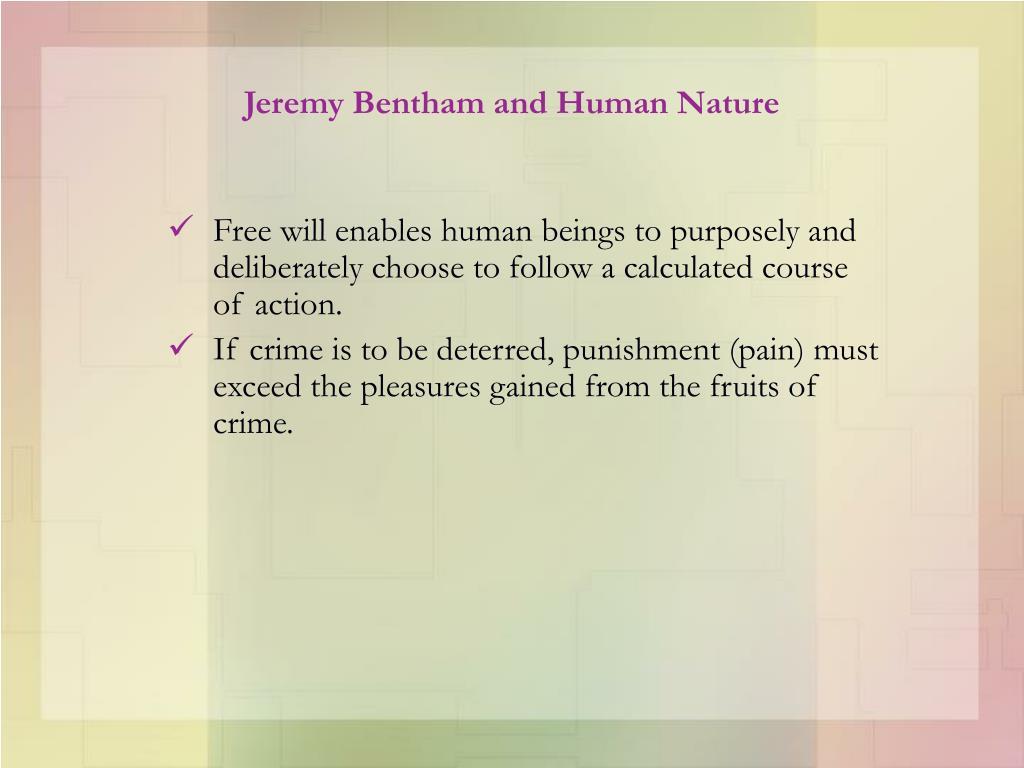 Jeremy Bentham and Human Nature