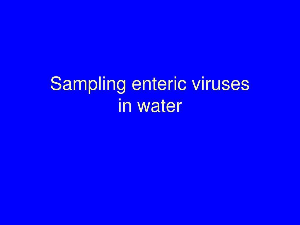 Viruses in water