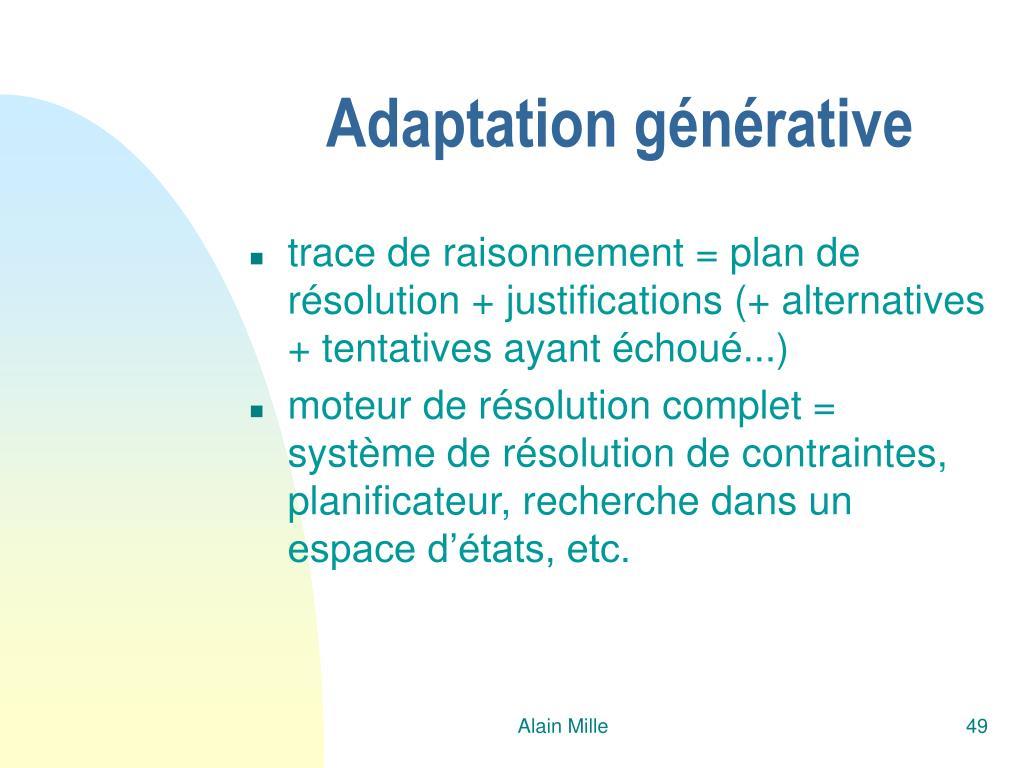 Adaptation générative