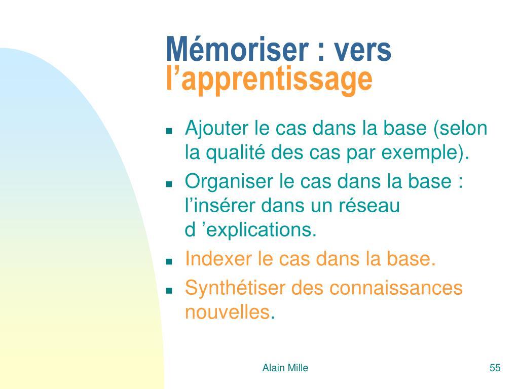 Mémoriser : vers