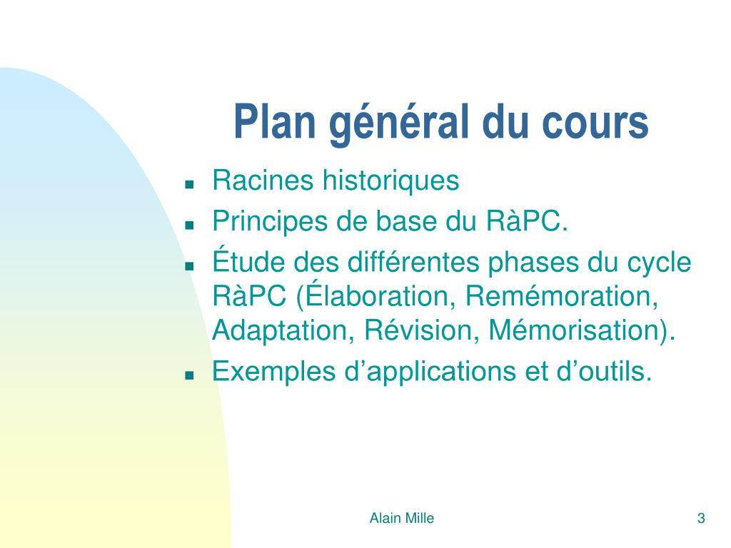 Plan général du cours