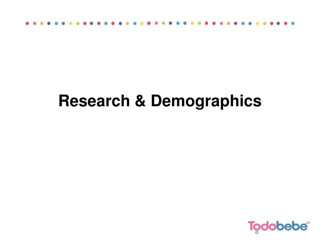 Research & Demographics