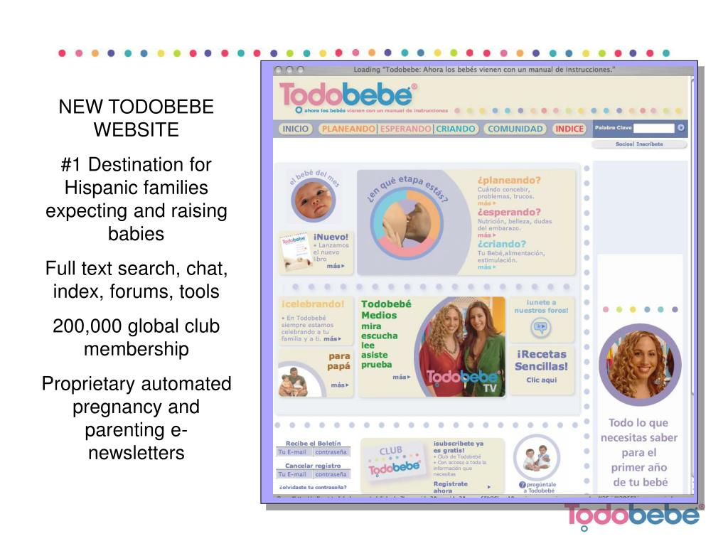 NEW TODOBEBE WEBSITE