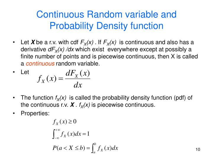 Continuous Random variable and