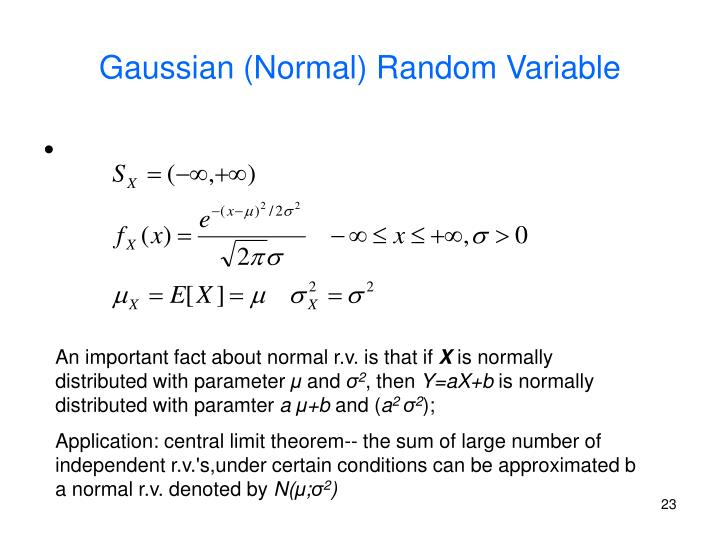 Gaussian (Normal) Random Variable