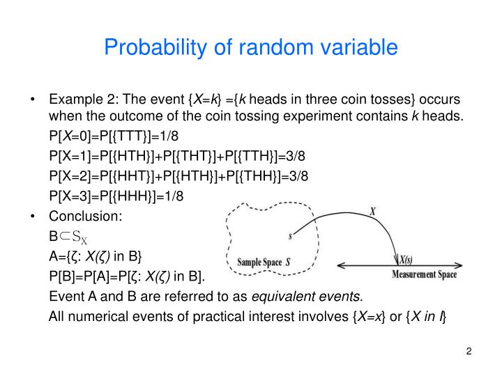 Probability of random variable