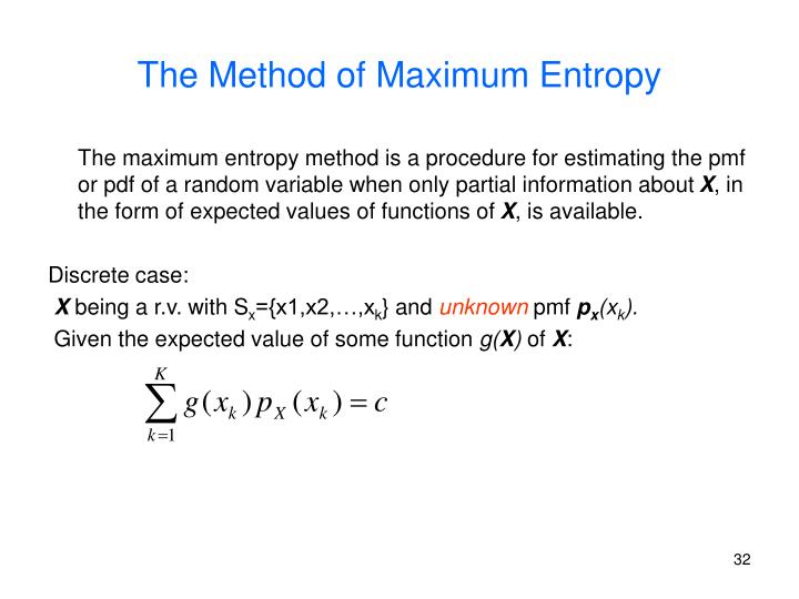The Method of Maximum Entropy