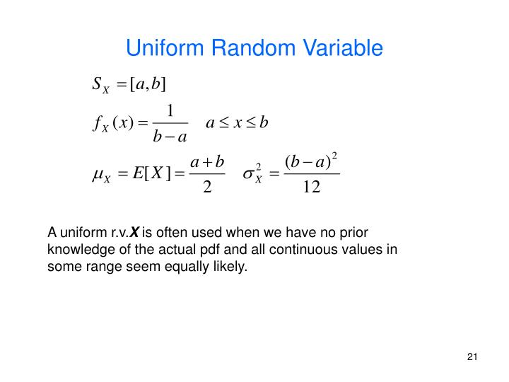 Uniform Random Variable
