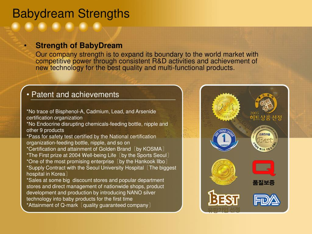 Babydream Strengths