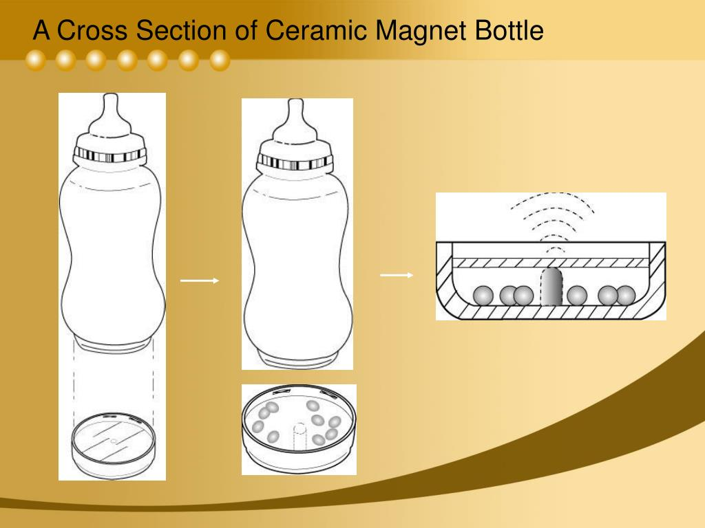 A Cross Section of Ceramic Magnet Bottle
