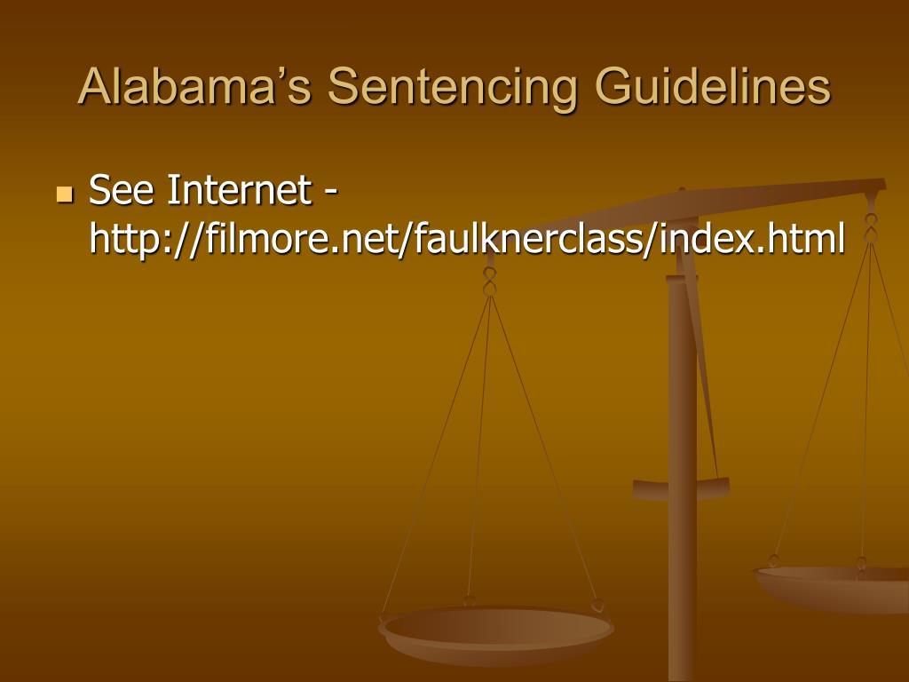 Alabama's Sentencing Guidelines