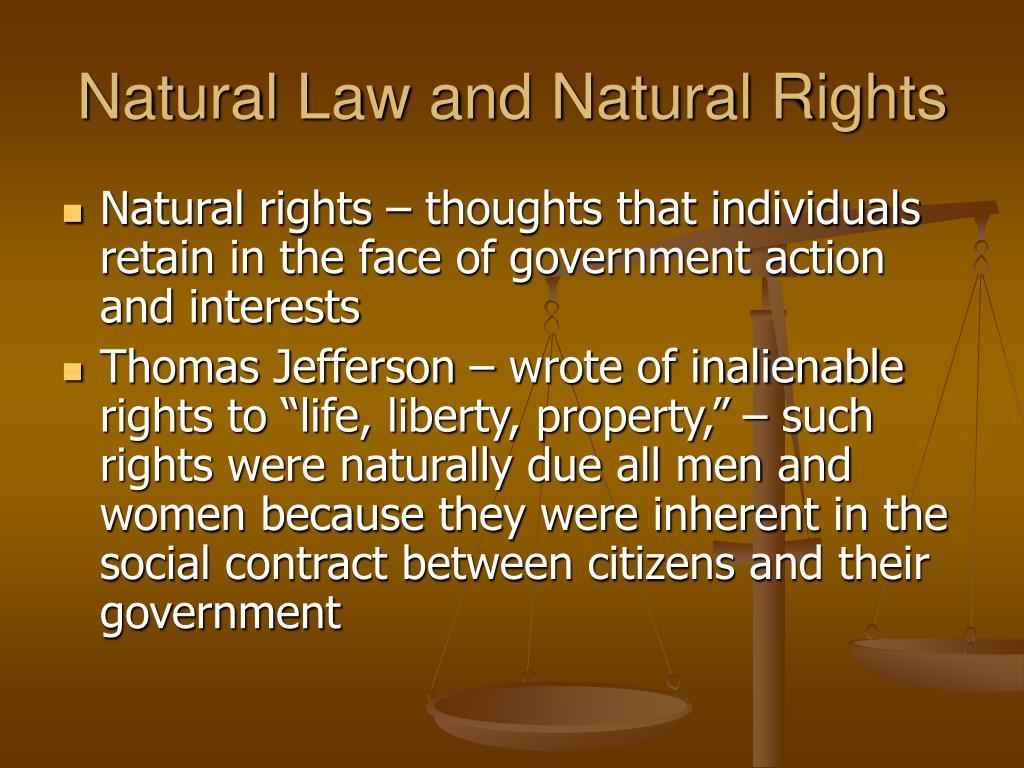 Natural Law and Natural Rights