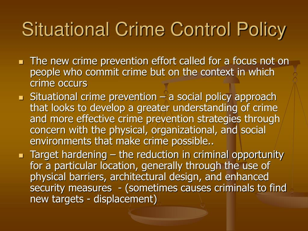 Situational Crime Control Policy