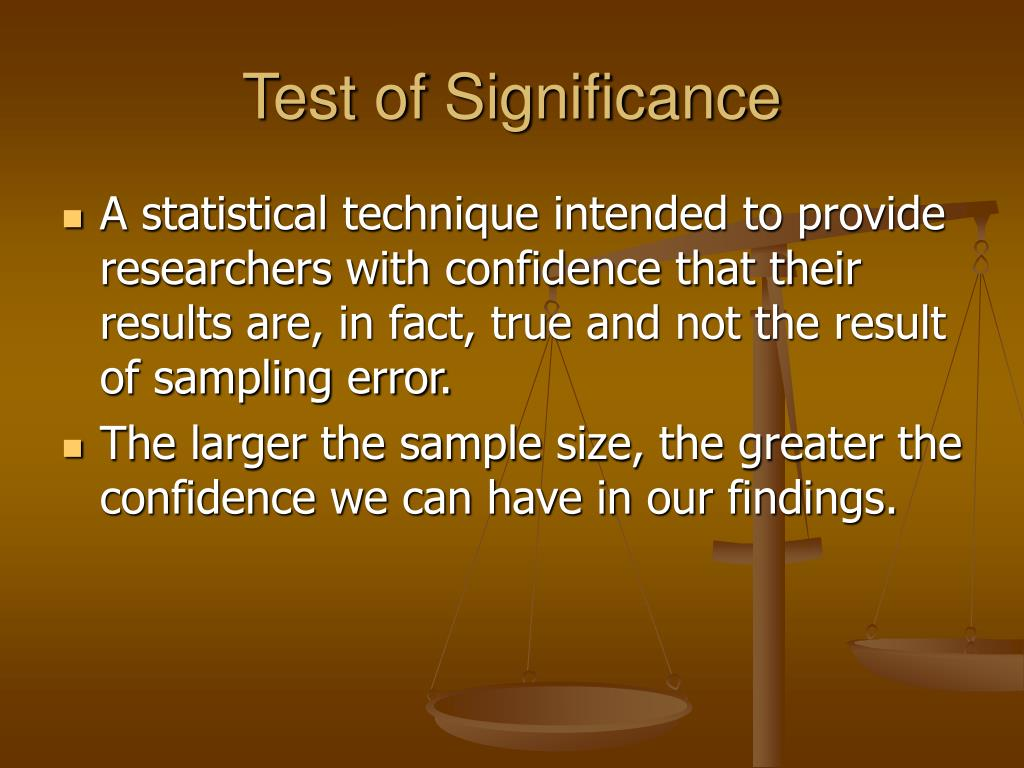 Test of Significance