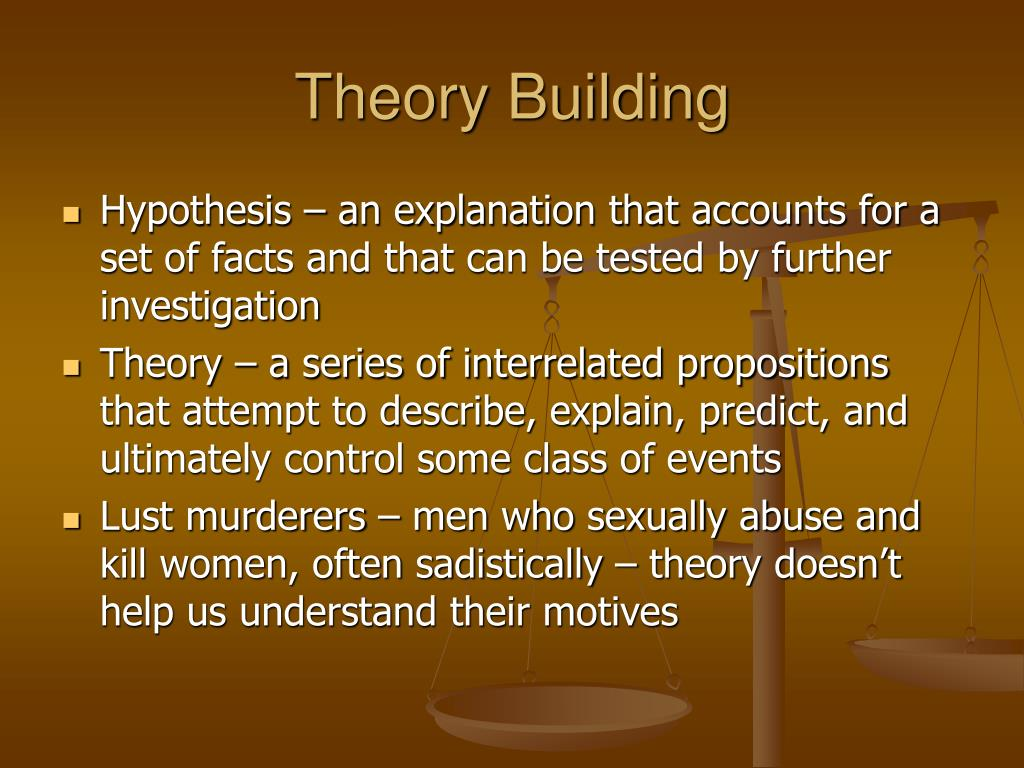 Theory Building