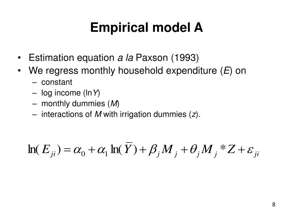 Empirical model A