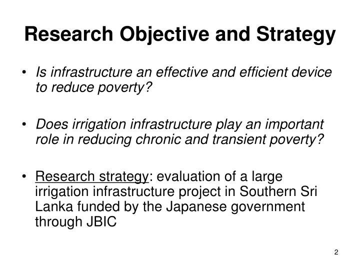 Research objective and strategy