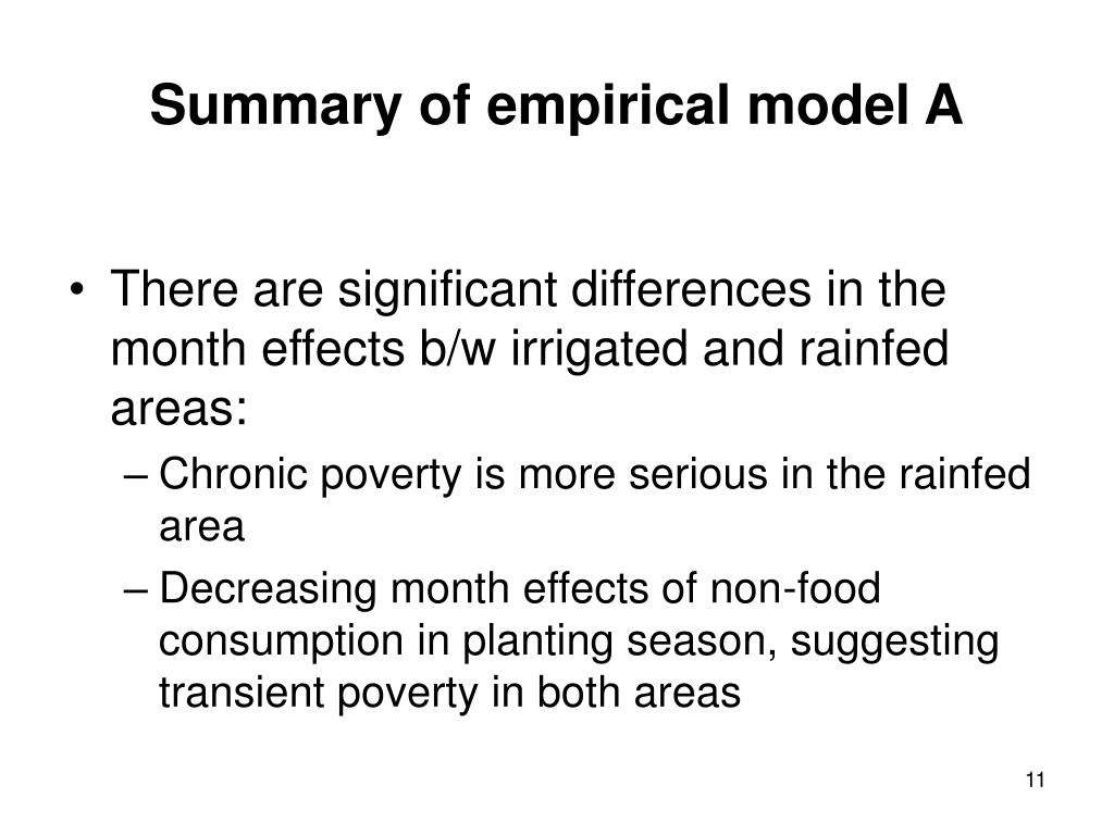 There are significant differences in the month effects b/w irrigated and rainfed areas: