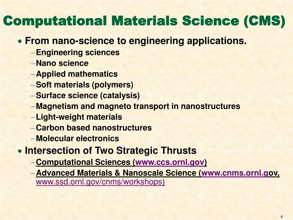 Computational Materials Science (CMS)