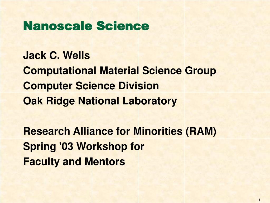 Nanoscale Science
