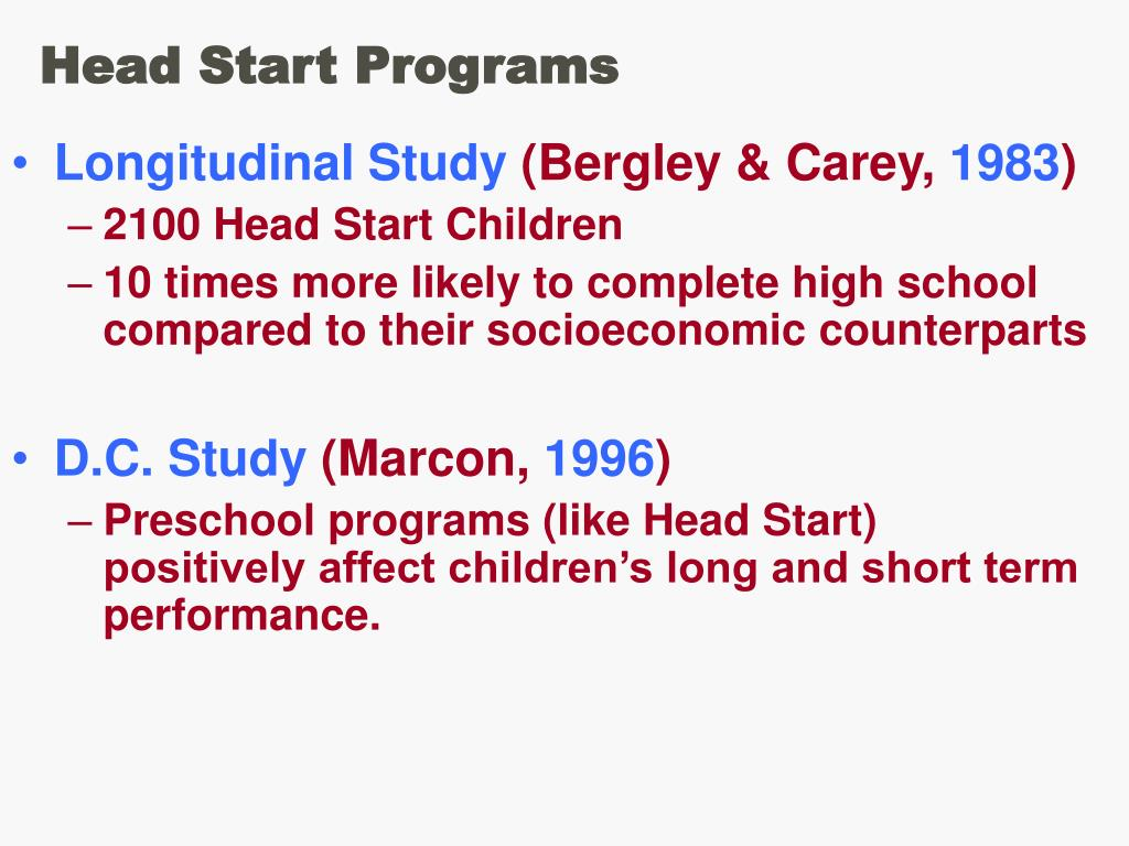 Head Start Programs