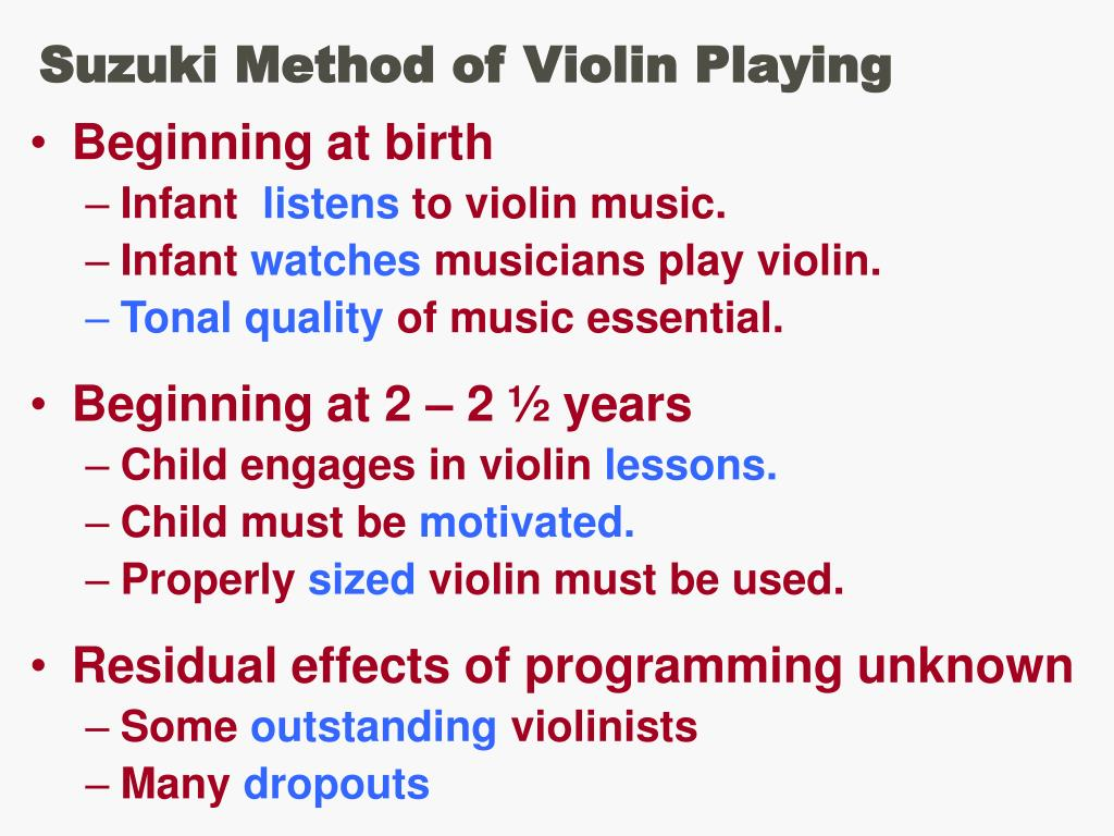 Suzuki Method of Violin Playing
