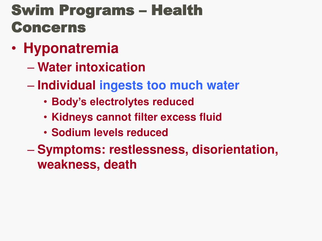 Swim Programs – Health Concerns