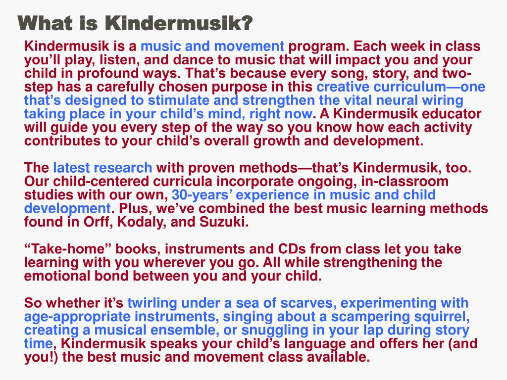 What is Kindermusik?