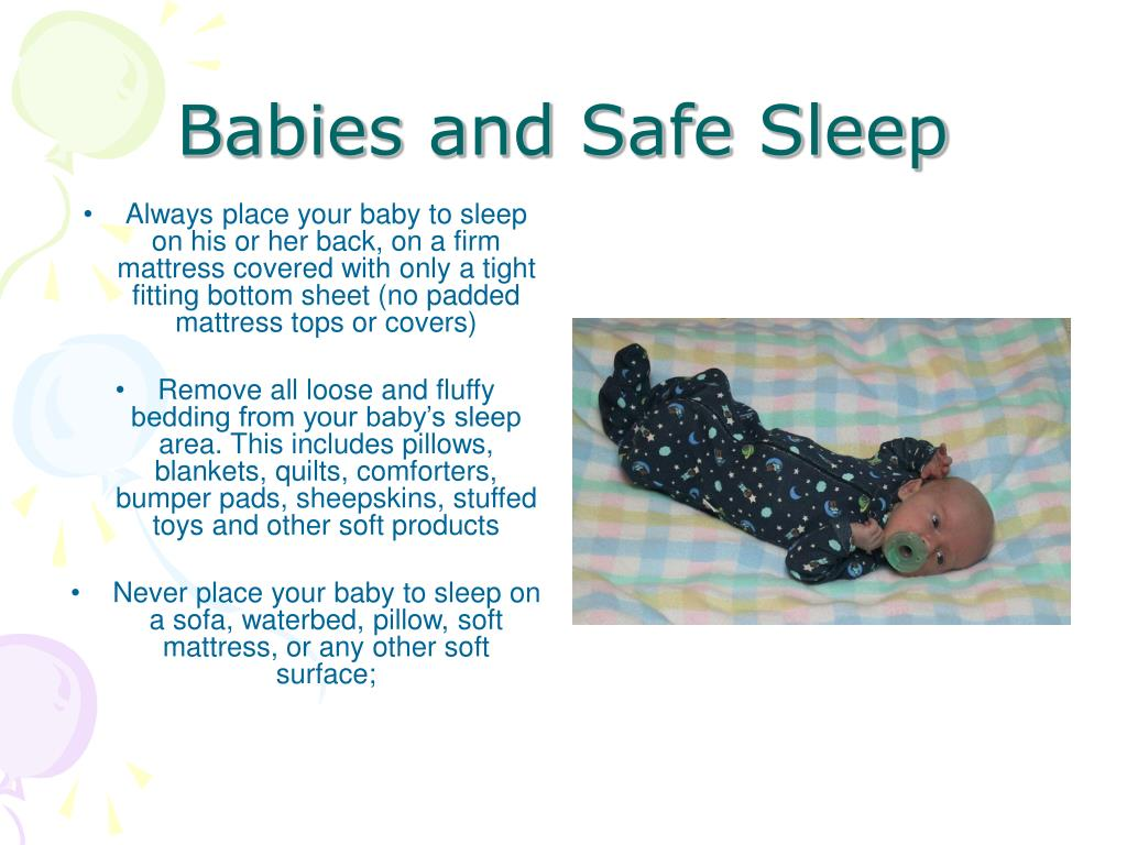Babies and Safe Sleep