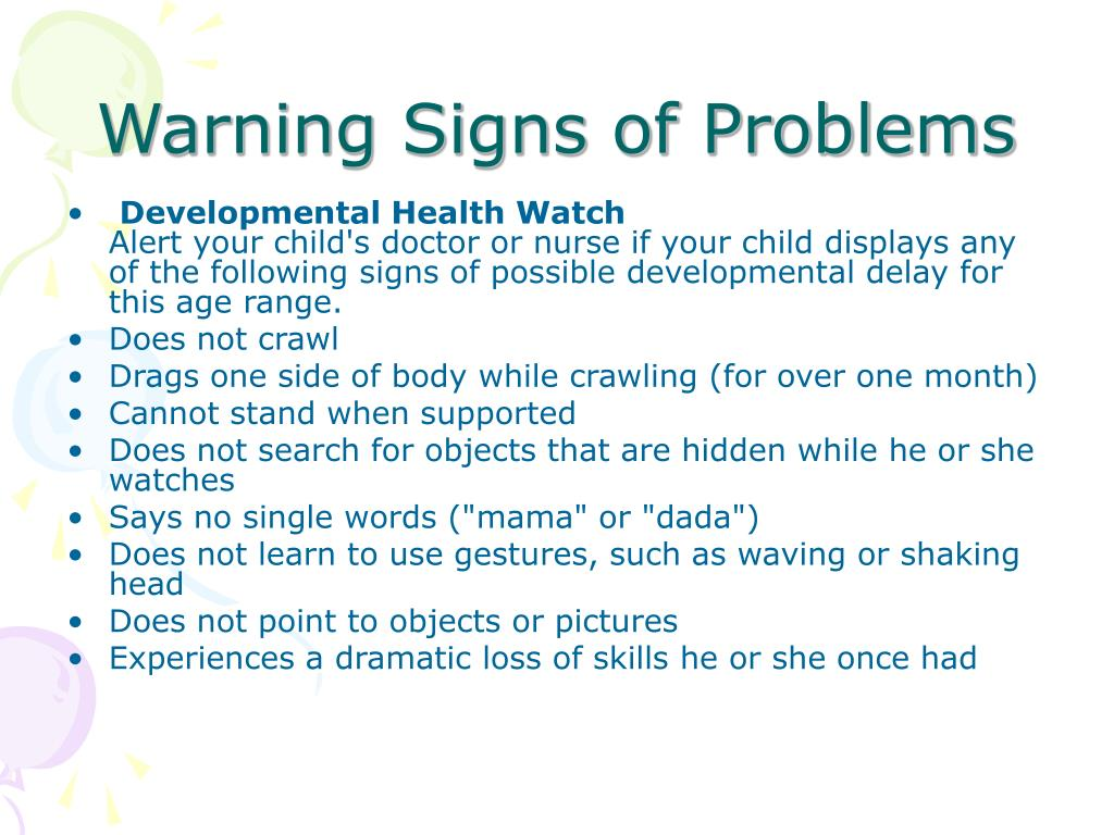 Warning Signs of Problems