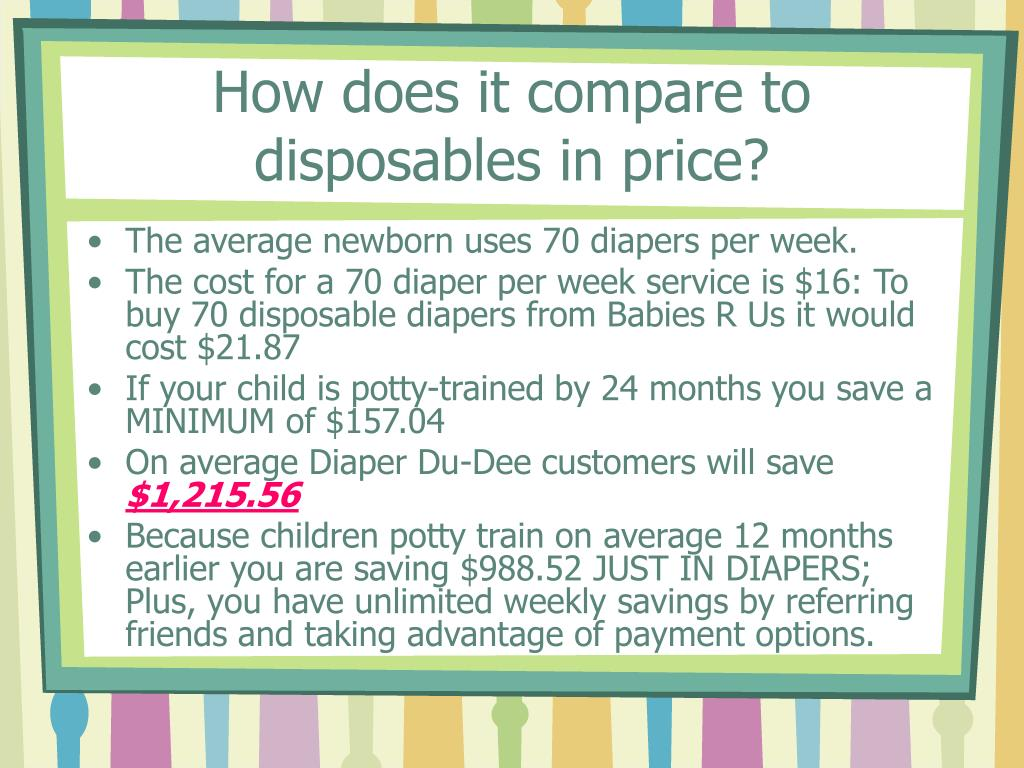 How does it compare to disposables in price?
