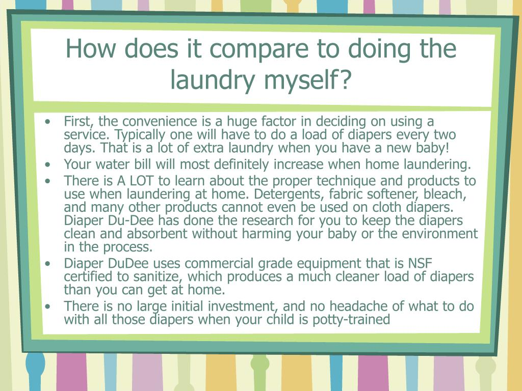 How does it compare to doing the laundry myself?