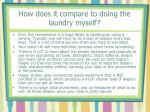 how does it compare to doing the laundry myself