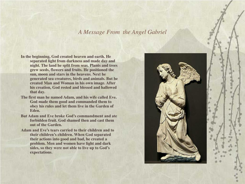 A Message From  the Angel Gabriel