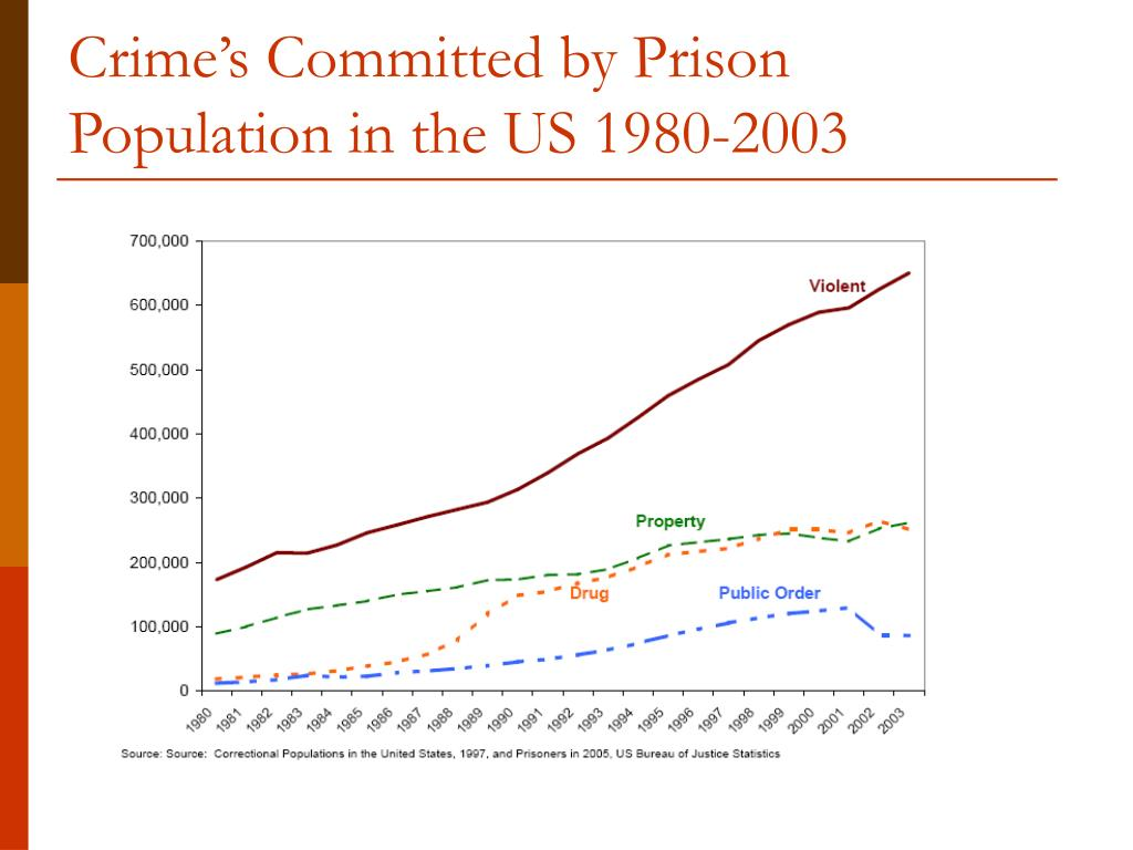 Crime's Committed by Prison Population in the US 1980-2003